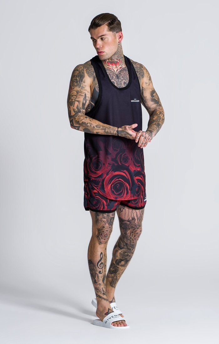 Men Rose Printed Fashion Suits