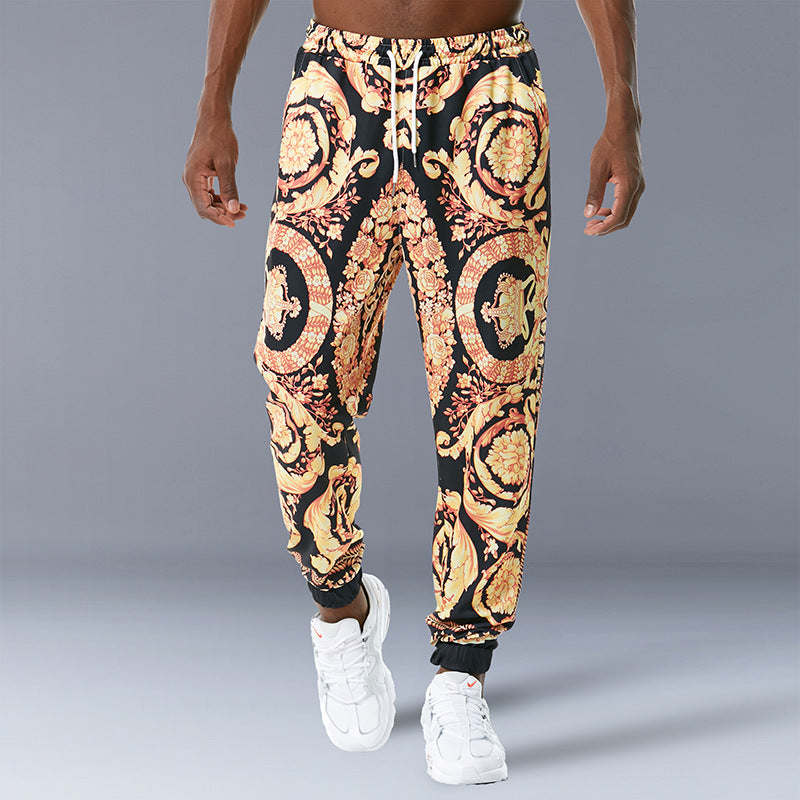 Casual Retro Printed Trousers