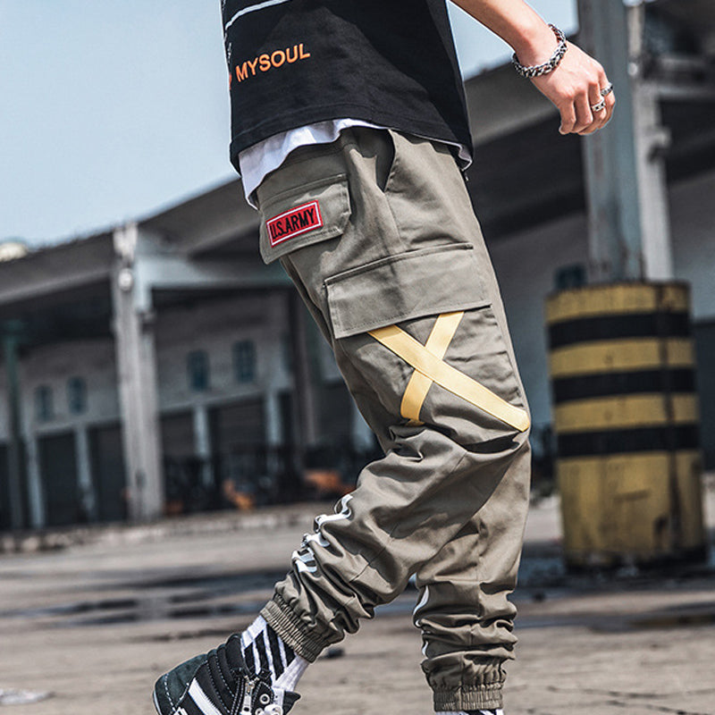 Men Hip-Hop Hippies Style Jogger Trousers