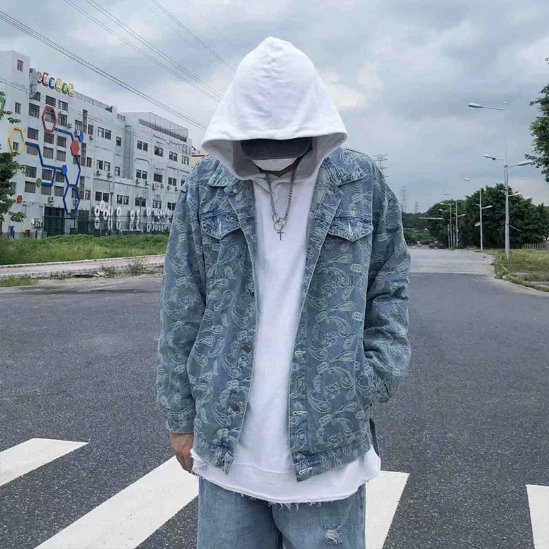 Loose Hip Hop Printed Jacket