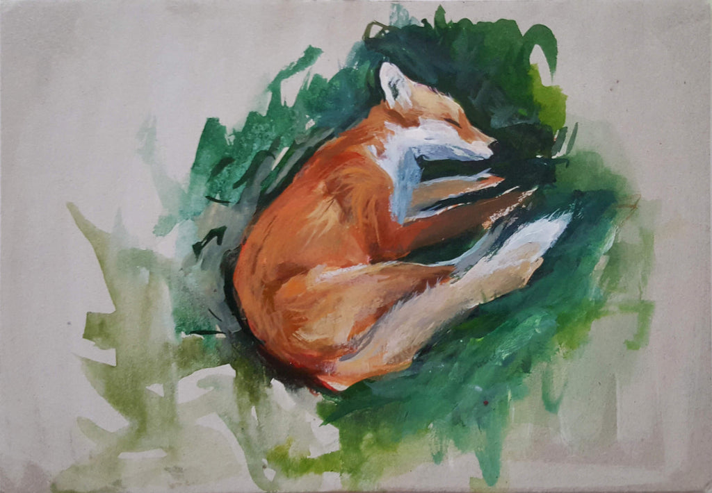 Andreea Floreanu - Peaceful Sleeping Fox I