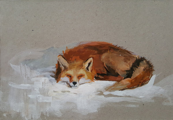 Andreea Floreanu - Peaceful Sleeping Fox II