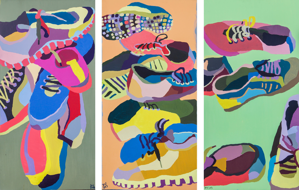Dominic Virtosu - Sneakers (triptych)