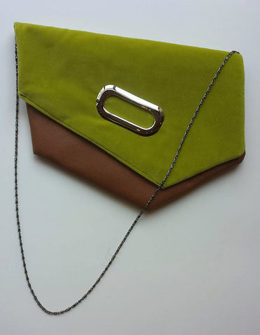 Green and Brown Clutch