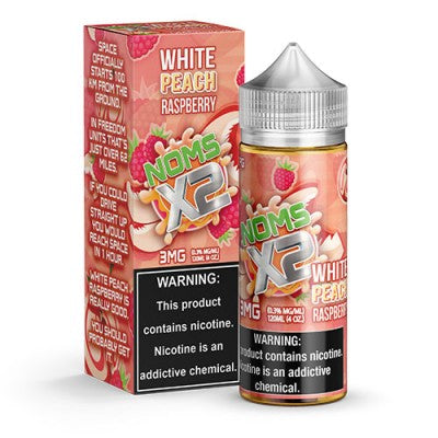 Nom X2 - White Peach Rasp. (0mg) 120ml