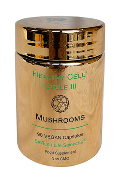 3 - Cordyceps, Reishi, Lingzhi, Shiitake, Maitake, Lions Mane Mushrooms & Beta Glucans 1,3 1,6. Normal Cell Division & Immune Response Healthy Cell Cycle BioTech Life Sciences