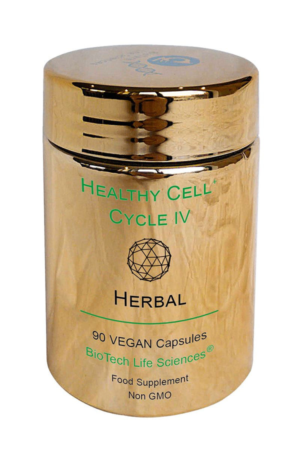 4 Herbal - Ginseng, Ginkgo Biloba, Ashwagandha, Elderberry, Garlic & Cat's Claw Healthy Cell Cycle BioTech Life Sciences