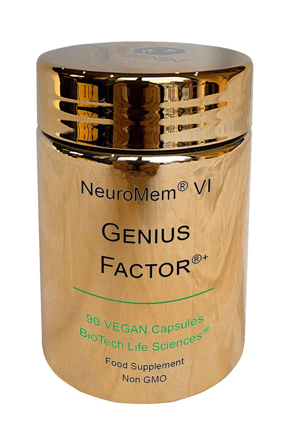 6 - Genius Factor - Helps Maintain Normal Concentration, Focus & Learning NeuroMem BioTech Life Sciences