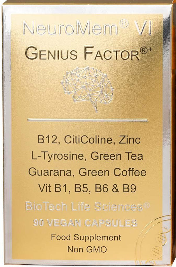 6 - Genius Factor® - Concentration Focus & Learning NeuroMem BioTech Life Sciences