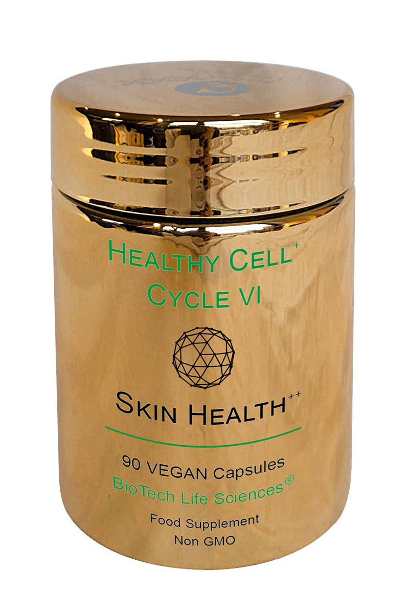 6 - Skin Health To Support Healthy Skin, Hair & Normal Collagen Function. Boswellia Serrata, Nasturtium, Polypodium, Rosemary, Hesperidin, D3, K2, A Healthy Cell Cycle BioTech Life Sciences