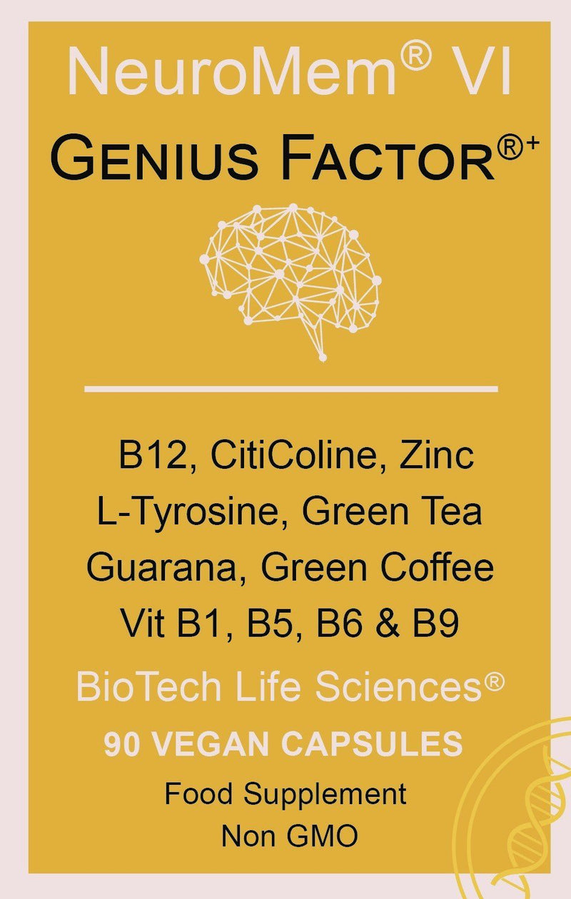 Brain & IQ, NeuroMem - Gift Pack of 6 NeuroMem BioTech Life Sciences