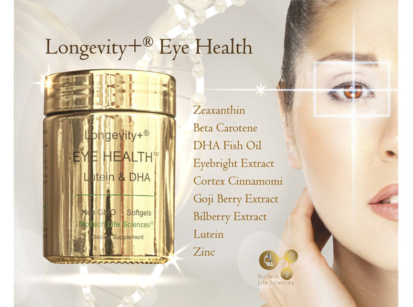 Eye Supplement - Lutein, Zeaxanthine, Beta Carotene, Eyebright, Omega 3 EPA DHA, Zinc, Cortex Cinnamomi, Goji Berry, Bilberry (140 softgels) Eye Health BioTech Life Sciences