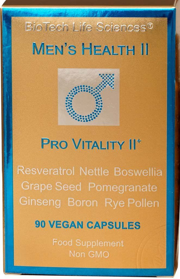 Men 2 - Sexual & Cardiovascular Health + Mental Performance, Resveratrol, Ginseng, Isoflavones: Genistein & Daidzein, Nettle, Boron Prostate Support BioTech Life Sciences