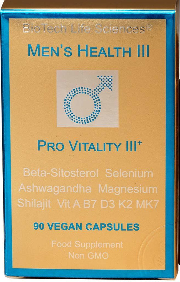 Men 3- Sexual Function & Spermatogenesis, Beta-Sitosterol, Ashwagandha, Shilajit, Iodine & Selenium Prostate Support BioTech Life Sciences