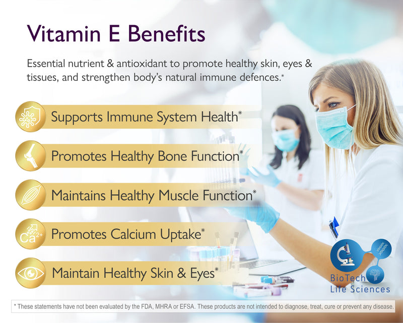 Vitamin C 500mg, D3 5000iu, E 400iu (80 Capsules of Each Vitamin = 240 Total) - 2.5 Months Supply Immune Pro BioTech Life Sciences