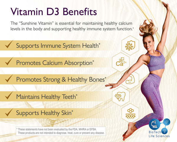 Vitamin D3 4,000iu (360 Softgels) - 1 Year Supply - High Strength Immune Pro BioTech Life Sciences