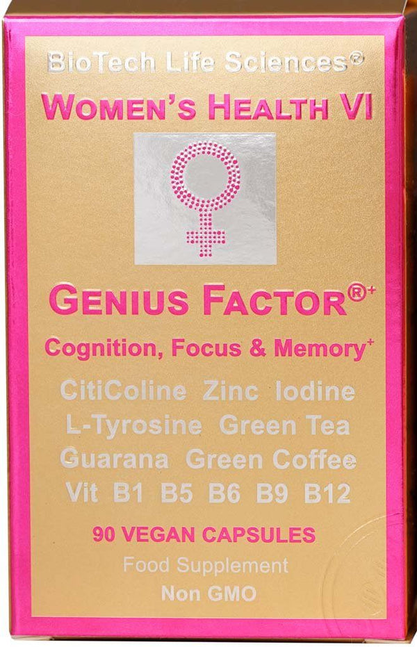 Women's Health 6 - Genius Factor - Cognition, Focus and Memory Womens Health BioTech Life Sciences