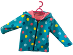 Soft shell jas - Bubbly dots - Tarzanella Kinderkledij