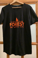 T-shirt - Zwart - May the forest be with you - Tarzanella Kinderkledij