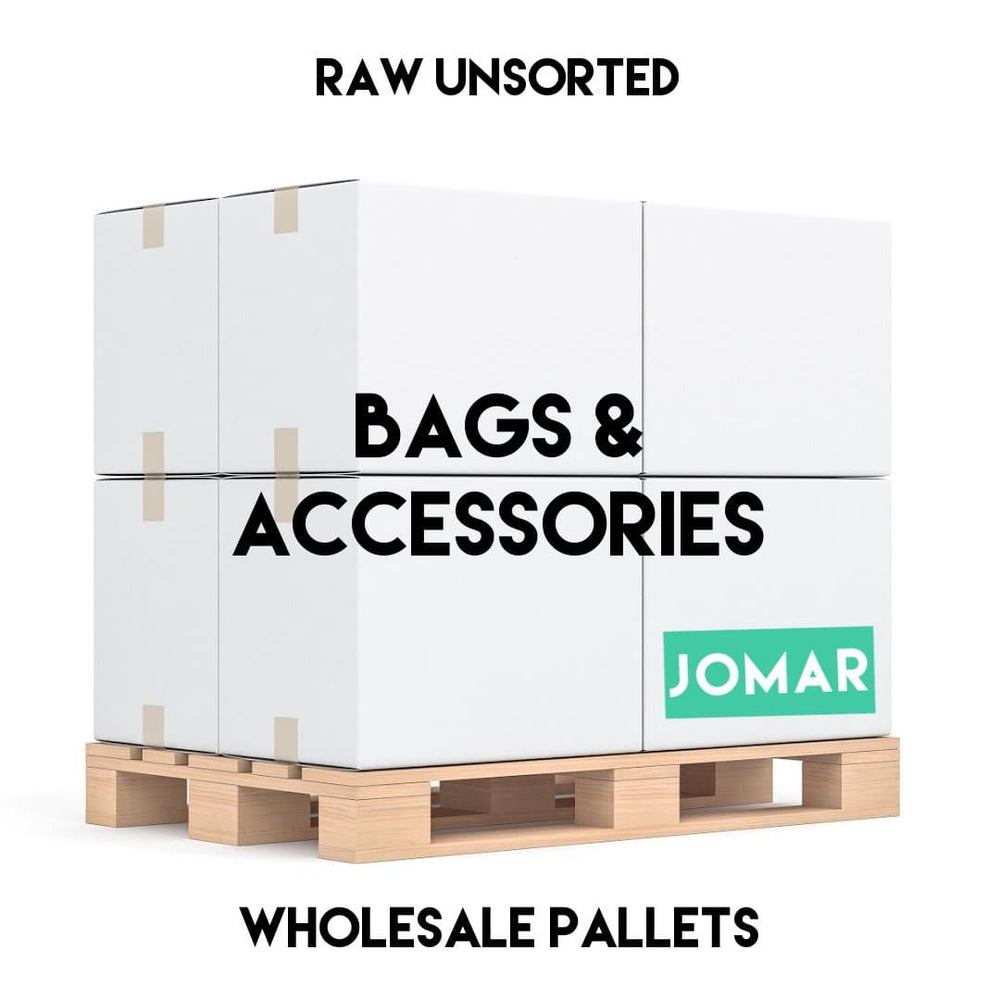 BAGS + ACCESSORIES PALLET | Raw, Unsorted - JOMAR WHOLESALE