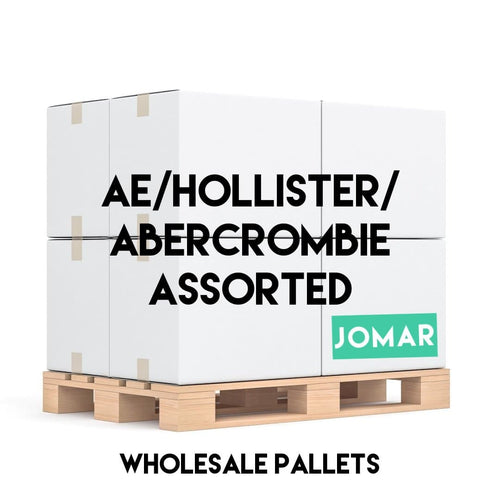 WHOLESALE PALLET | AE+HOLLISTER+ABERCROMBIE | Mixed Gender - JOMAR WHOLESALE