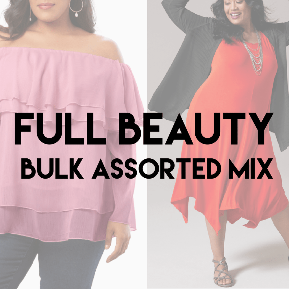 FULL BEAUTY ASSORTED MIX | Ladies + Plus Size Variety | 75 pieces - JOMAR WHOLESALE