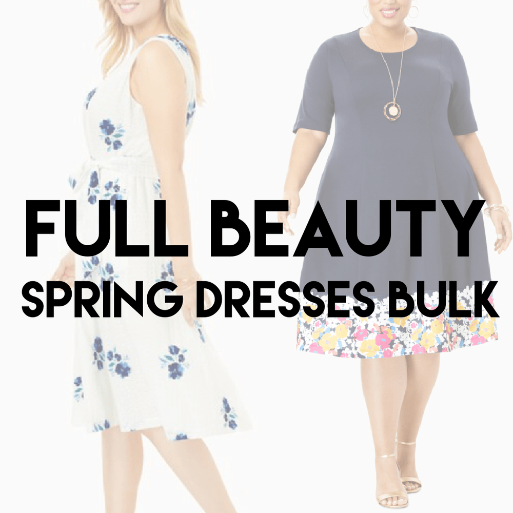 FULL BEAUTY SPRING DRESSES | Ladies + Plus Size NEW - JOMAR WHOLESALE