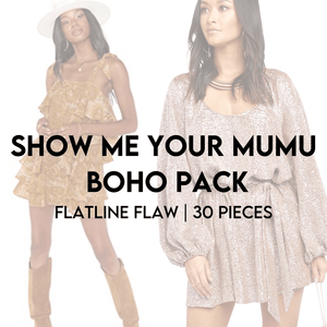 Load image into Gallery viewer, SHOW ME YOUR MUMU BOHO FLATLINE FLAW PACK | 30 PIECES - JOMAR WHOLESALE