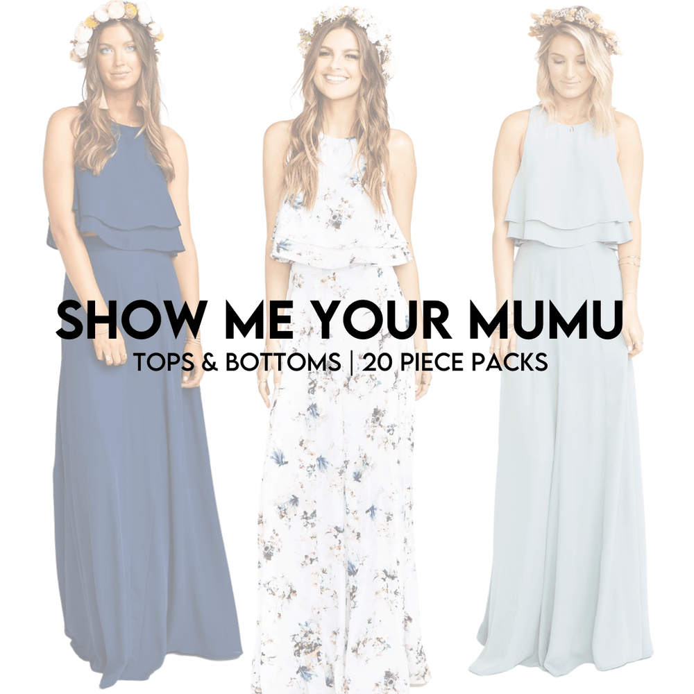 Load image into Gallery viewer, SHOW ME YOUR MUMU | TOPS + BOTTOMS | 20 PIECE PACKS - JOMAR WHOLESALE
