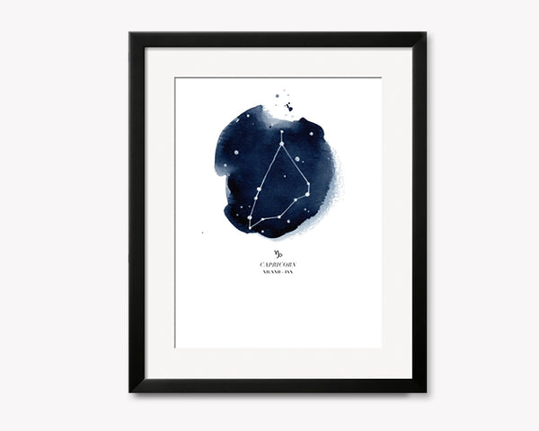 Capricorn Zodiac Constellation Print