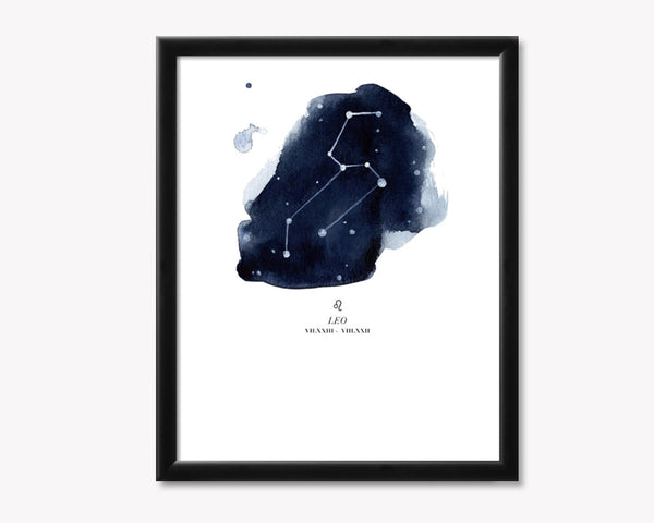 Leo Zodiac Constellation Print