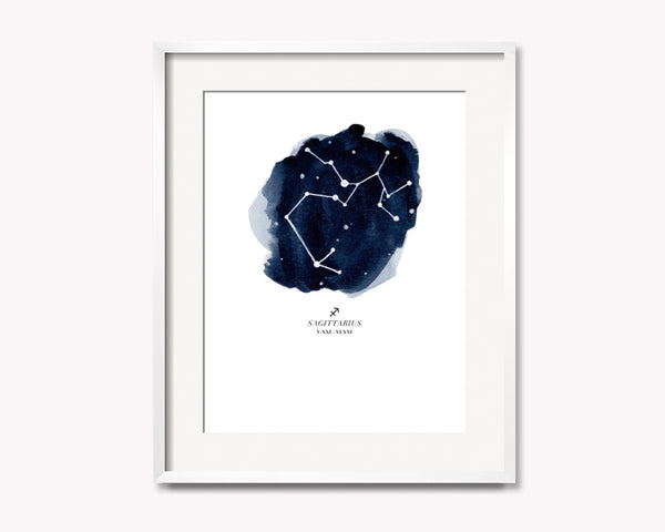Sagittarius Zodiac Constellation Print