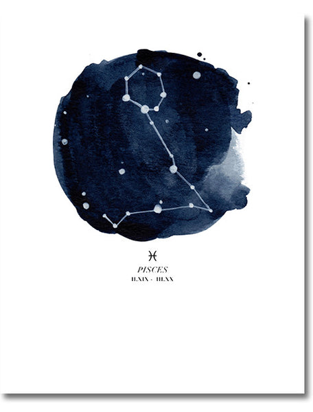 Pisces Zodiac Constellation Print