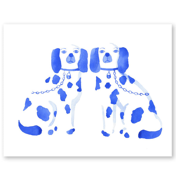 Staffordshire Dogs Print