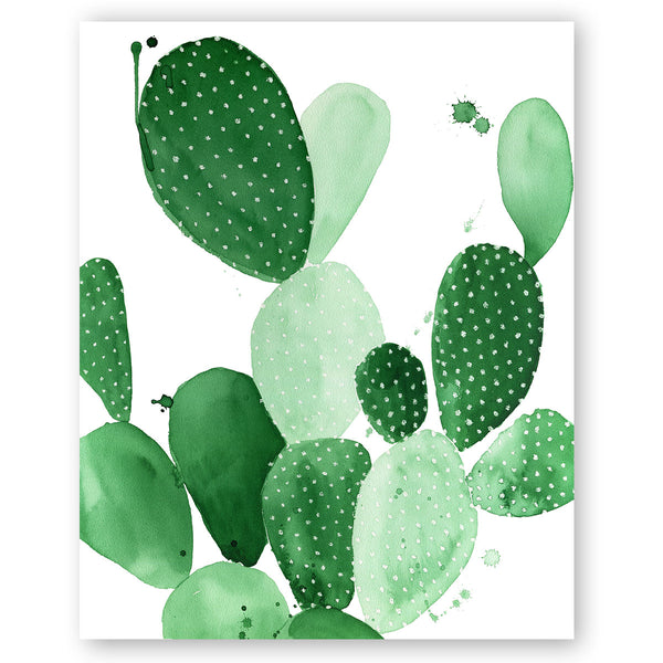 Green Paddle Cactus Ii Print The Aestate