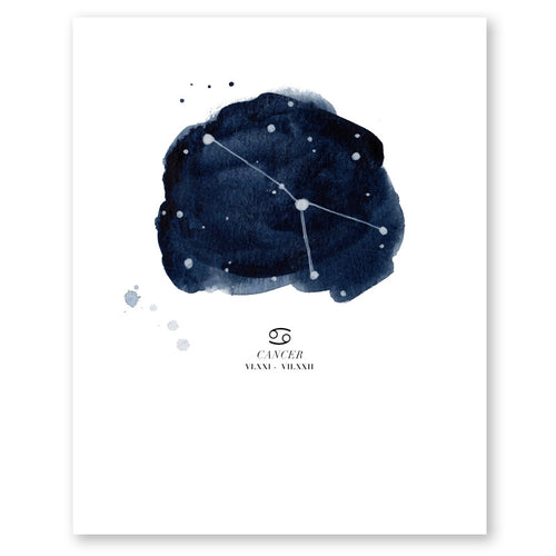 Cancer Zodiac Constellation Print