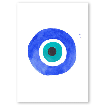 Abstract Indigo no.4 Print