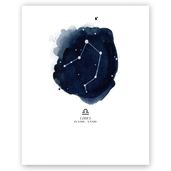 Libra Zodiac Constellation Print