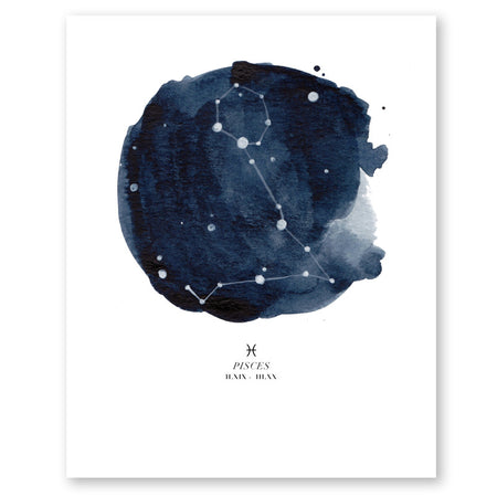 Zodiac Constellations Poster Print