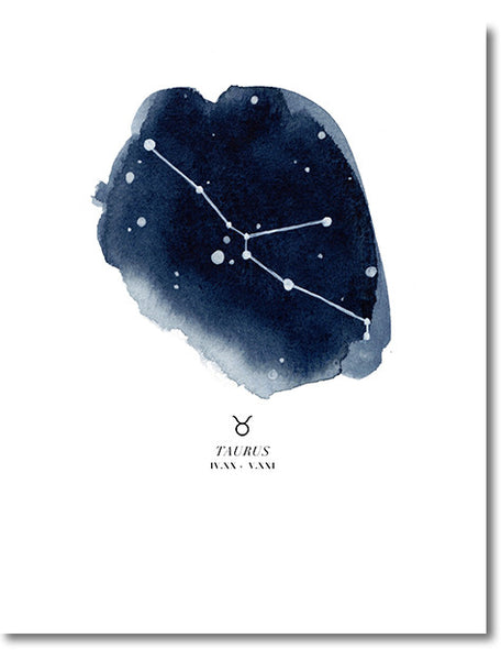 Taurus Zodiac Constellation Print