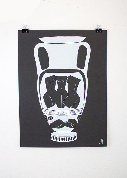 Urn no.1 LIMITED EDITION Screenprint