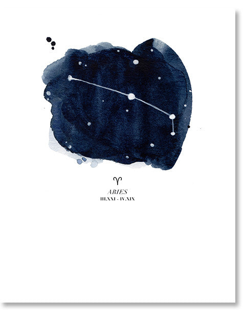 Aries Zodiac Constellation Print