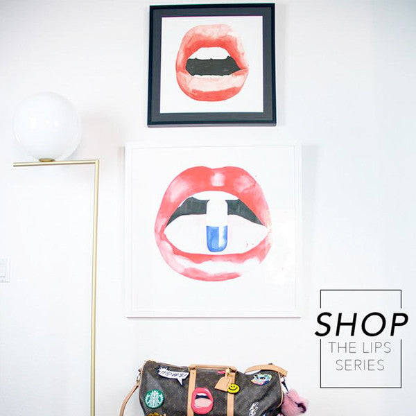 shop lips series art prints