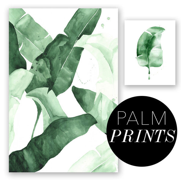 shop palm leaf banana leaf art prints