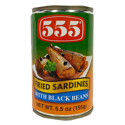 555 Fried Sardines In Black Beans 5.5oz Front