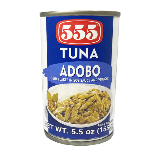 555 Tuna Flakes Adobo 5.5oz Front