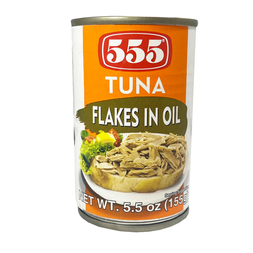 Package 555 Tuna Flakes in Oil 5.5oz Front
