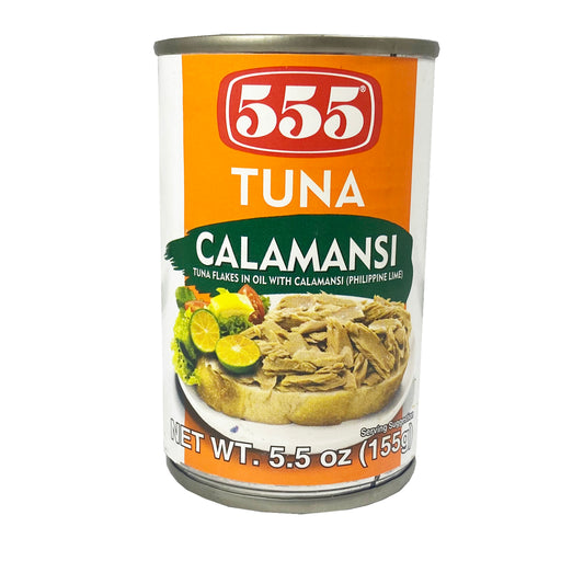 555 Tuna Flakes in Oil with Calamansi 5.5oz Front