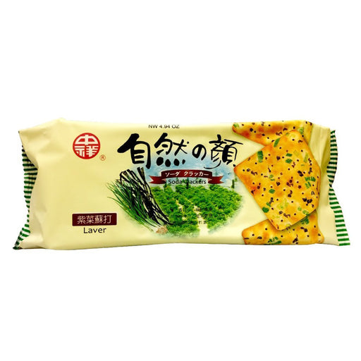 Package Zhong Xiang Soda Crackers Laver (Seaweed) Flavor 4.94oz Front