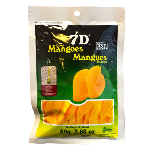 Package 7D Dried Mangoes 2.8oz Front